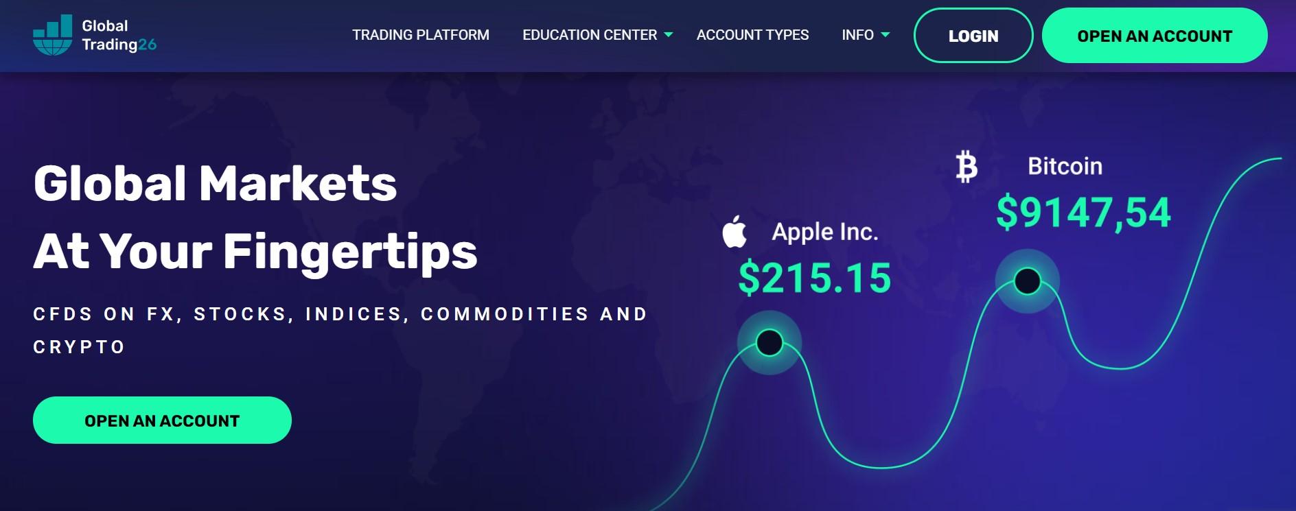 Global Trading 26 website