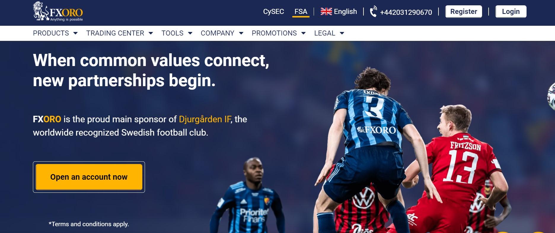 FxOro website