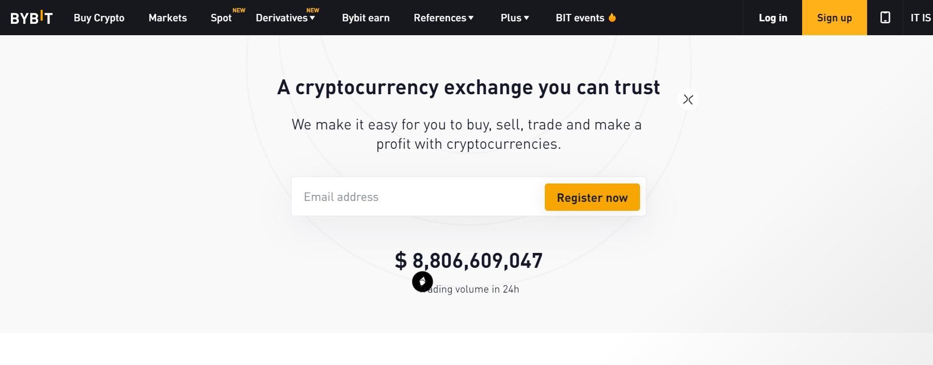 Bybit website
