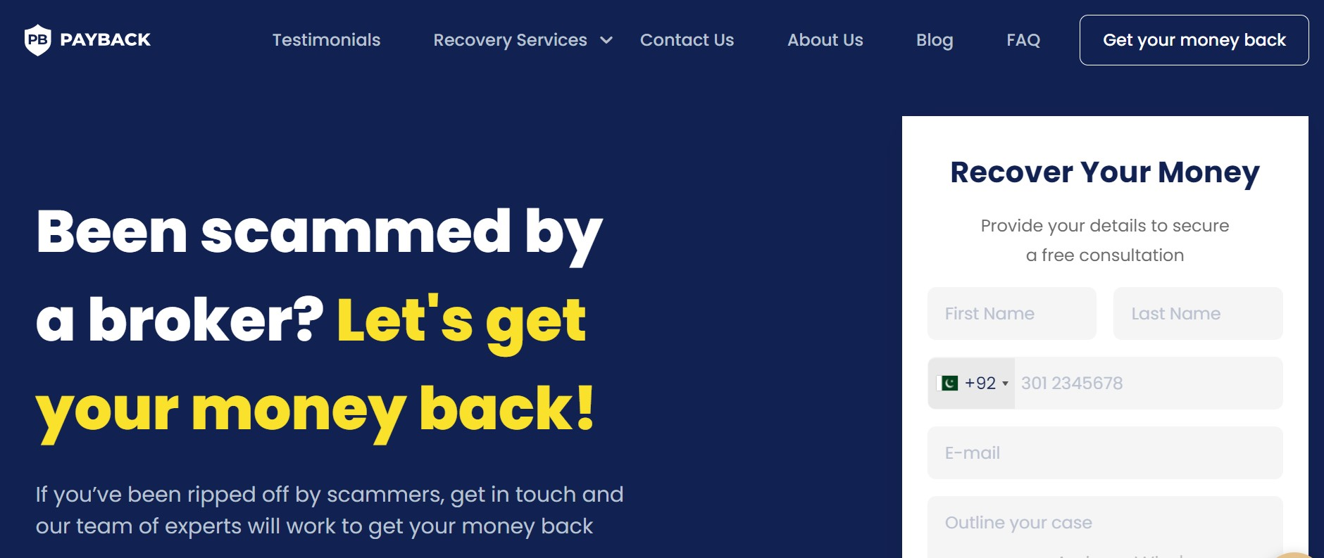 PayBack Ltd website